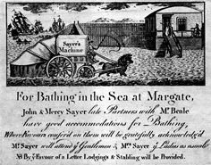 1791 Sayer Bathing Machine It's About Time: Bathing Machines from Britain to Early America Margate Kent, Swimming Champions, Champions Of The World, Book And Magazine, Local History, Views Album, Vignettes, My Images, 18th Century