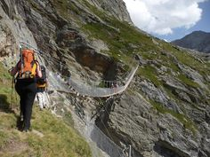 Dômes de Miage (Mont-Blanc)  passerelle nouveau chemin des conscrits