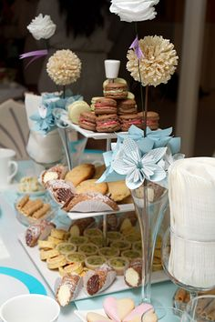 TEA PARTY ~ and French pastries... ' o ' It looks so pretty..