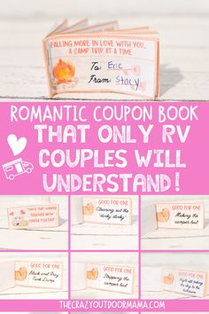 If you're looking for a cheap but romantic camping gift for your partner, then check out this cute camping coupon book! Camping Bingo, Camping Date, Couples Camping, Camping Packing, Camping Gifts, Rv Camping, Family Camping, Camping Crafts For Kids, Camping With A Baby
