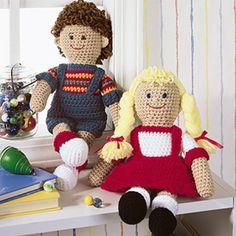 Forever Friends Boy and Girl Dolls Crochet ePattern