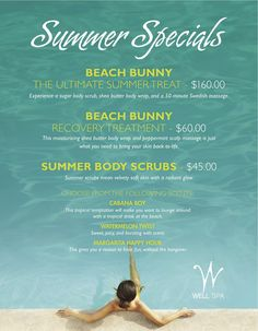 Summer Specials WELL Spa Platinum Hotel and Spa Las Vegas