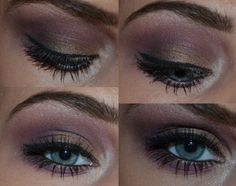 Smokey Eye (dark purple, good for blue eyes and lighter skin tone)