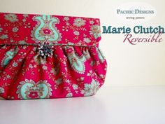 Handbag sewing pattern Marie Reversible Clutch PDF por CaDesignBum