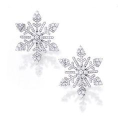 Diamond snowflake studs