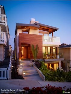 Modern house with balconies - this is a great little beach house