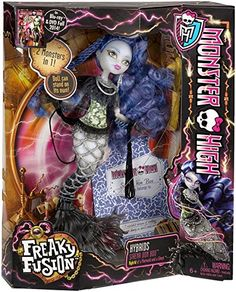 Monster High Freaky Fusion Sirena von Boo Doll Discontinued by manufacturer * To view further for this item, visit the image link.