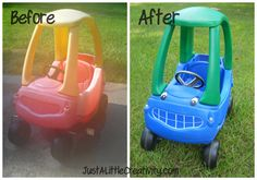 Pimp that Cozy Ride-plastic toys makeover!