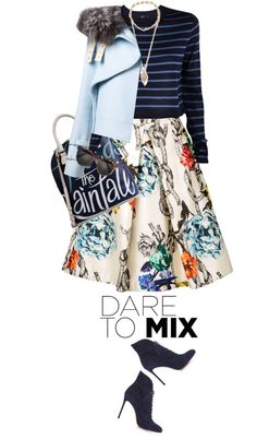 """Tibi Tattoo Silk Skirt"" by mychanel on Polyvore"