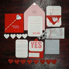Corações em todo o Casamento