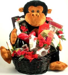 Monkey Love and Chocolates! Romantic Gift Basket « Delay Presents