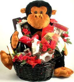 Monkey Love and Chocolates! Romantic Gift Basket « Delay Presents