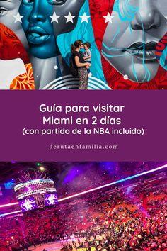 Guía para visitar Miami en 2 días, consejos para comprar entradas para un partido de la NBA e información sobre qué hacer la noche de fin de año en Miami. Miami Beach, Florida, Movies, Movie Posters, Outdoor Art, End Of Year, Entrance Halls, Traveling, Night