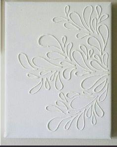 Canvas lijm/kit en verf