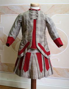 A very smart boy's ensemble from circa 1879.