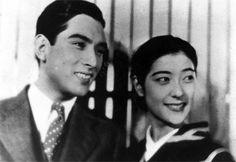 1937(昭和12)年公開の松竹映画「花嫁かるた」(島津保次郎監督)。 上原謙と高杉早苗