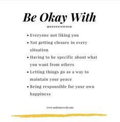 It isn't always easy to do these, but they're necessary for your own sake. Fighting for things that are outside of your control is exhausting, but accepting what is will bring peace. Mental And Emotional Health, Coaching, Self Improvement Tips, Self Healing, Life Advice, Note To Self, Self Development, Self Care, Self Help