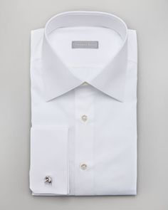 Basic French-Cuff Dress Shirt, White by Stefano Ricci at Neiman Marcus.