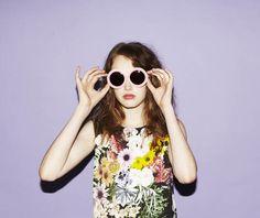 Retro, Urban, Floral fashion; WOMENS OVERSIZE DESIGNER FASHION ROUND CIRCLE SUNGLASSES 9115