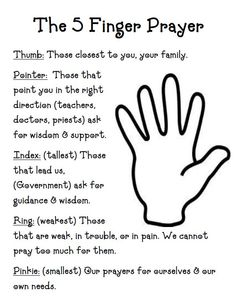 5+finger+prayer.JPG (590×762). Agh, my kids need this! They never know what to pray for.