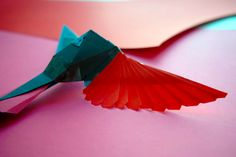 making a humming bird out of paper.. work in progress!!
