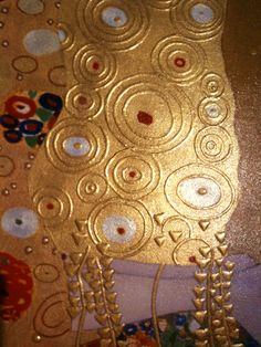 Gustav Klimt: A closeup from The Kiss shows the raised surfaces common in his other paintings that aren't always appreciated in reproductions. Gustav Klimt, Klimt Art, Art Nouveau, Vienna Secession, Photo Chat, Arte Popular, Art For Art Sake, Art Plastique, Famous Artists