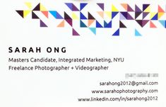 I was recently asked for a business card at a conference, which sparked my quest to find grad school appropriate ideas!