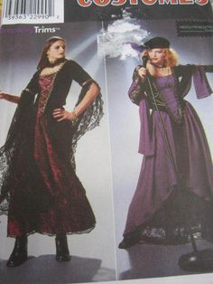 SeeSallySew.com - Goth Gypsy Lacy Dress Vintage Stage Play Costume Simplicity 8750 Pattern Sz. 10 - 14 , $12.00 (http://stores.seesallysew.com/goth-gypsy-lacy-dress-vintage-stage-play-costume-simplicity-8750-pattern-sz-10-14/)