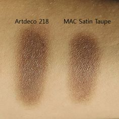 MAC Satin Taupe dupe Artdeco eyeshadow 218