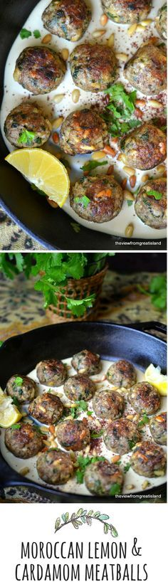 These unusual meatballs in a creamy tahini sauce are not to be missed! from TheViewFromGreatIsland.com