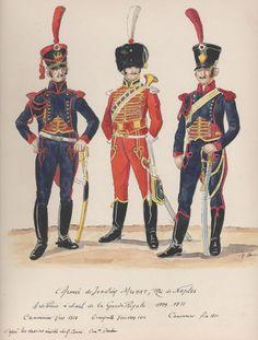 Naples; Garde Royale, Horse Artillery Company, Gunner, 1810, Trumpeter, 1810-11 & Gunner, late 1811 by H.Boisselier