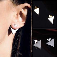 New Arrival Women Triangle Earrings Punk Jewelry Stud Earrings for Women PY005(China (Mainland))