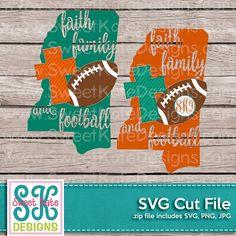 Mississippi Faith Family & Football SVG