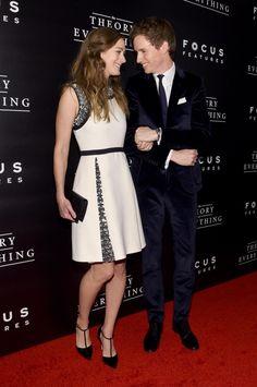 Best dressed 22.10.14 gallery - Vogue Australia   Hannah Bagshawe in Gucci with Eddie Redmayne