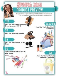 Mary Kay. http://www.marykay.com/morganwelter. Call or text 239-848-7612