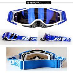 Fly Racing Zone Goggles Blue Hi-Vis Moto MX Dirt Bike Off-Road Mirrored Lens