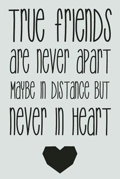 """True friends are never apart, maybe in distance but never in heart."" #PANDORAloves #Friendship #BFF"