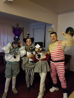 Vintage Circus Theme.  Circus horse clown, clown, ringmaster, and strongman.  (Strongman costume only I bought)