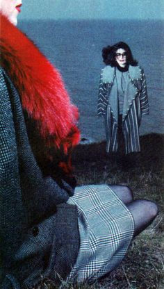 Anouk Aimée for Emanuel Ungaro, American Vogue, September 1985. Photograph by Guy Bourdin.