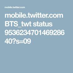 mobile.twitter.com BTS_twt status 953623470146928640?s=09