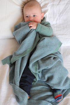 Cashmere Blanket - Knitted Baby Blanket | Brora
