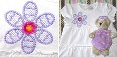 """Easter Petals Spring Embroidery ! Easter inspired with petals to resemble eggs, this flower """"Springs"""" with a fringed center for a popping accent!  Great for little girls fashion fun and home dec too! Fast & fun to sprinkle on everything from dresses, tops & shorts sets to Springtime towels, table & home dec accents.  SAVE 20% with code: NLE20"""