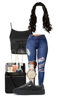 """""""Liyah-Dollas💵 Chapter 1"""" by itsjaylaa ❤ liked on Polyvore featuring Topshop, Michael Kors, Puma and Jennifer Meyer Jewelry"""