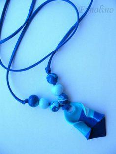 Blue Beaded Necklace, Blue, Jewelry, Fashion, Beaded Collar, Moda, Jewlery, Pearl Necklace, Jewerly