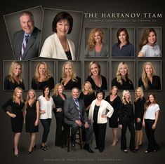The Hartanov Team with Prudential California Realty/Berkshire Hathaway Homeservices from San Clemente California. This 11 member team chose our studio based on our track record for quality photography as well as being able to provide a photograph that was not obsolete. Each member is photographed separately then pieced together to create the perfect composition.   Final product provided The Hartanov Team with moth a recognizable team portrait for branding as well as individual head shots.