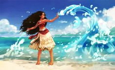 Moana by FLAFLY.or could Moana be a eater bender (avatar anyone? Moana Disney, Princesa Disney, Princess Moana, Disney Princess Art, Disney Fan Art, Disney Dream, Disney Magic, Disney And Dreamworks, Disney Pixar