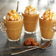 Frozen Caramel Coffee:   Okay, I'm very much in danger of wanting to pin every recipe from the Folger's website.  And I don't even drink Folger's coffee!