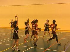 Indoor netball #abbotsholmeschool #netball #indoornetball #sport #sportshall