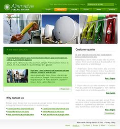 Alternative Fuel Website Templates by Glenn