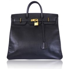HERM`ES Hermes Black Ardennes HAC 45cm Birkin Bag Rare used to carryequestrian gear men's 10 800